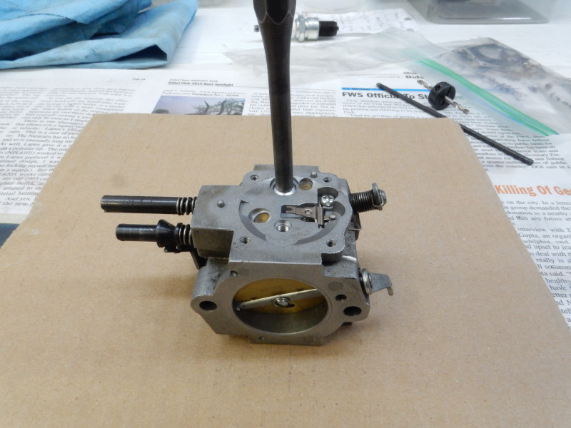 Welch plug removal and installation for the Walbro WG series
